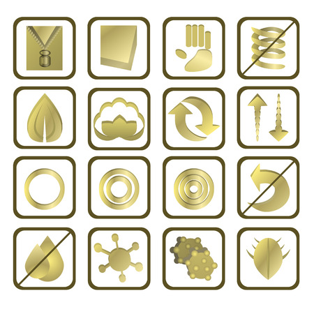 set of 16 mattress icons photo