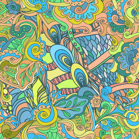 nostalgy: seamless pattern. Abstract hand drawned endlless texture, EPS 8 format 8