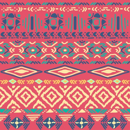 pueblo: seamless vector ornament on black background, native-american style