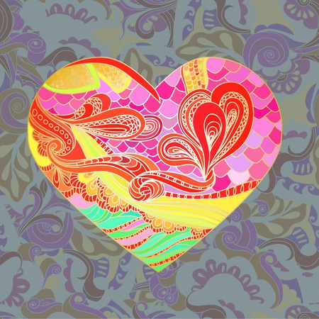nostalgy: seamless pattern with colorful heart-shape. EPS 8, beautiful colors