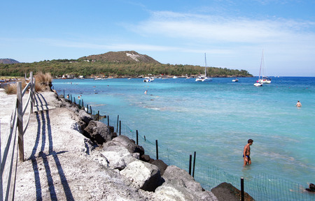 panarea: the hot springs of sulfur located in Volcano, Aeolian Islands