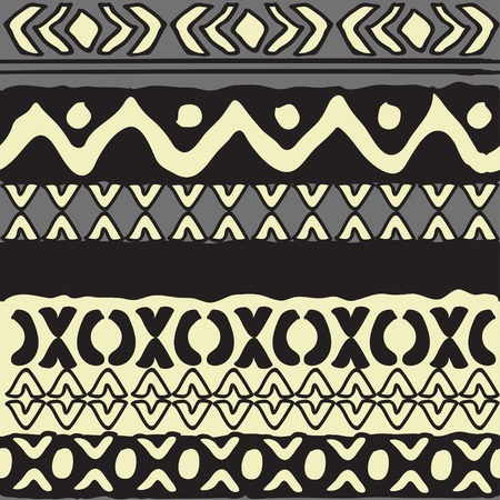 pueblo: geometrical vector pattern. trendy hand drawn shapes
