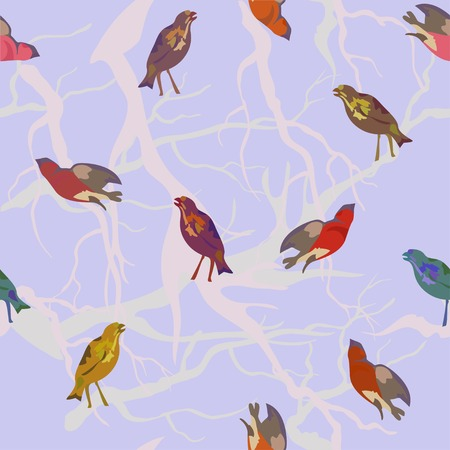 seamless vector background with birds photo