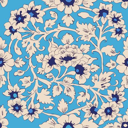 blumen verzierung: nahtlose Vektor-Muster. klassischen islamischen Blumenverzierung. autentical Farben