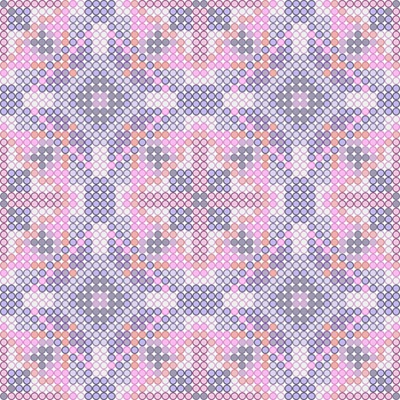 Knitted Seamless Fabric Pattern, Beautiful Blue Red Pink Knit Texture Vector