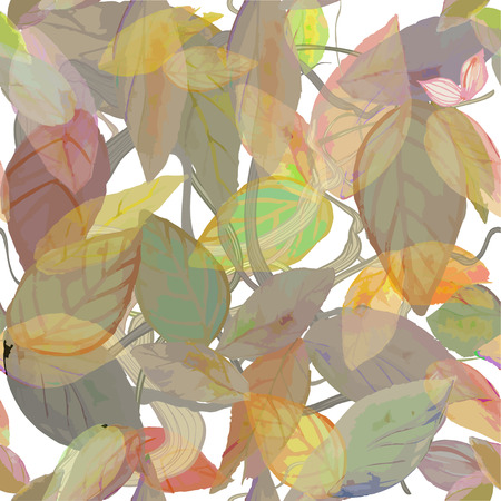 rich floral vector background with watercolor leaves