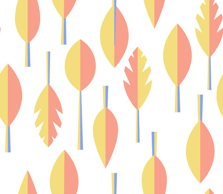 seamless vector pattern. Essential scandinavian design with autumn leaves