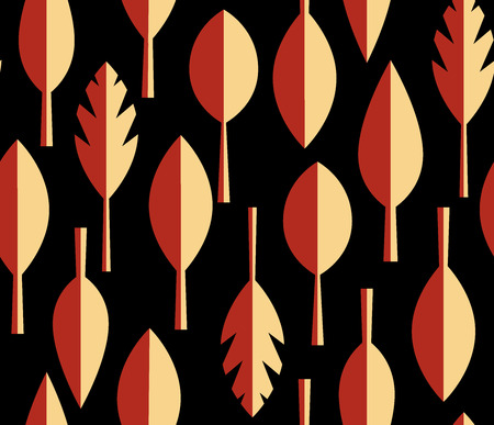 seamless vector pattern. Essential scandinavian design with colorful leaves