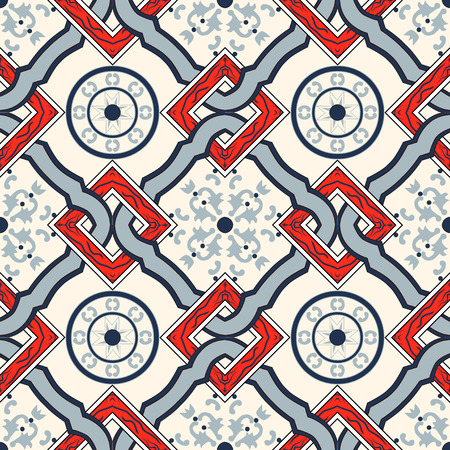 60th: seamless pattern. Abstract hand drawned endlless texture. Mediterranean pattern