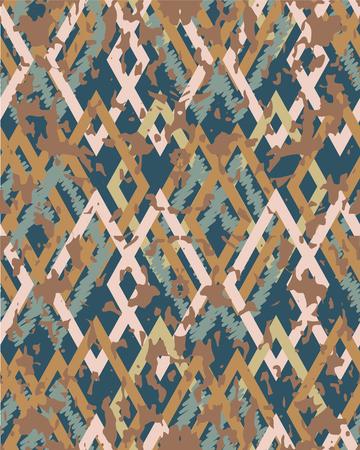 Seamless  pattern, grungy geometrical ornament