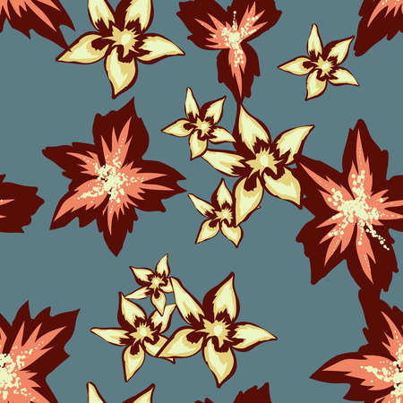 trendy floral pattern. Perfect for fabric