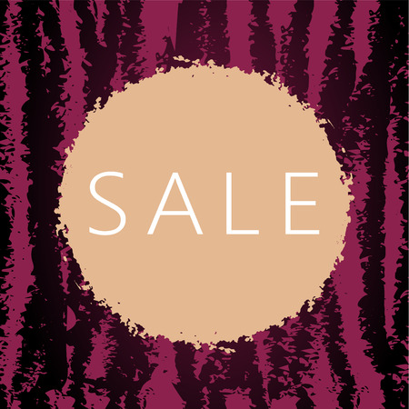 Sale card with seamless striped background and grungy circle