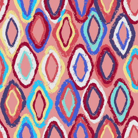 seamless pattern with colorful rombs