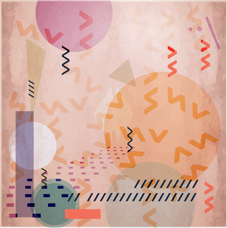 abstract geometric composition with essential shapes
