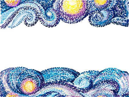 Van Gogh background Иллюстрация