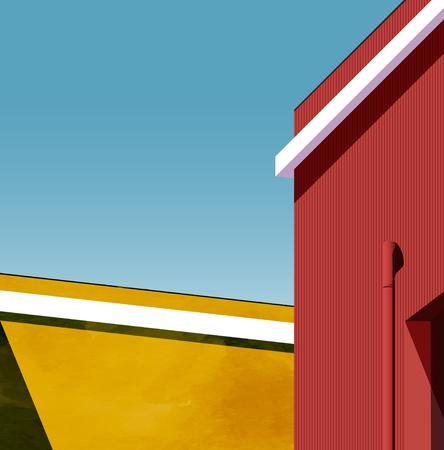 Urban landscape vector background Illustration