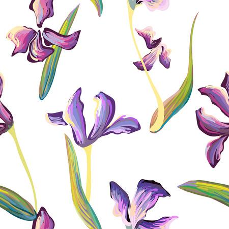 Van Gogh iris flowers