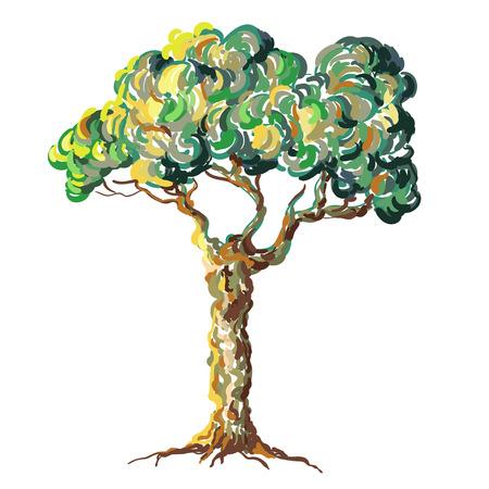 brushed: Van Gogh tree