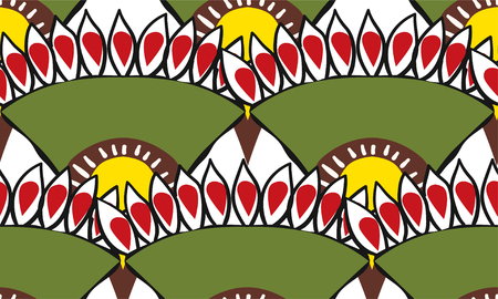 seamless pattern of African fabric