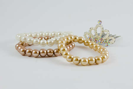 saltwater pearl: Bracelet accessory  beauty luxury pearl hair-pin Stock Photo