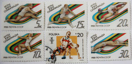 postage: Postage stamps of the USSR and Poland. XXIV Olympic games 1988
