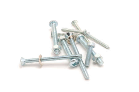 metal fastener: Nuts and Bolts Stock Photo