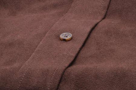 Suede Shirt bouton close-up Banque d'images - 4085436