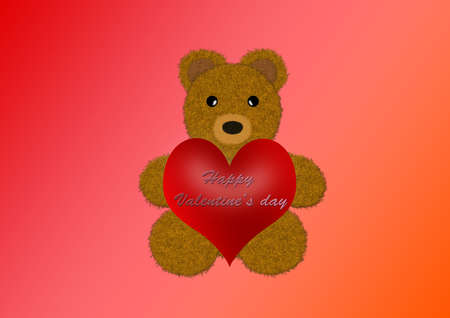 Happy Valentines day Teddy photo