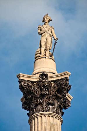 Nelson column on trafalgar square photo