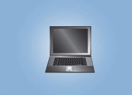 laptop black Vector