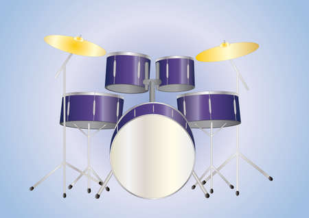 drumset: drumset purple