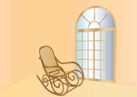 rocking chair and window Stock Photo - 7612000
