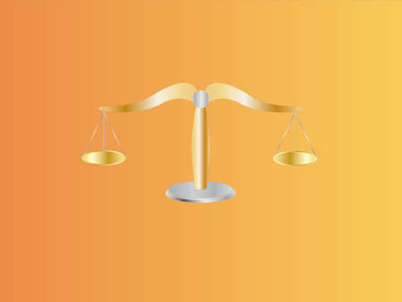 Waage der Gerechtigkeit (Hintergrund auf separater Ebene) Standard-Bild - 7633720