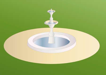 garden fountain: fountain Stock Photo