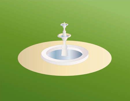 garden fountain: fountain Illustration