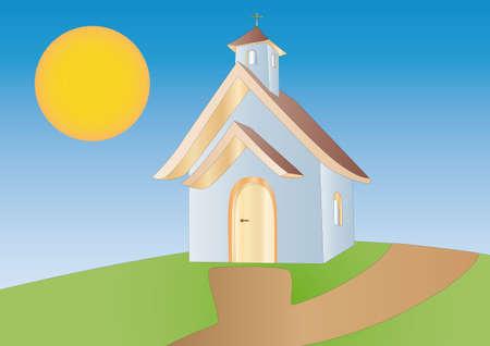 chapel: little chapel Stock Photo
