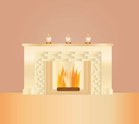 fire place: romantic fire place