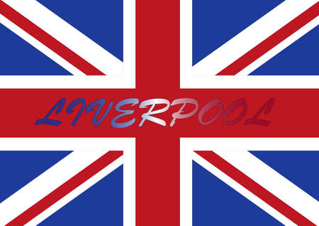 liverpool: Liverpool flag Stock Photo