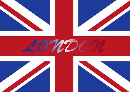 Bandera de Londres Foto de archivo - 8323465