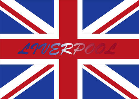 liverpool: Liverpool with UK flag