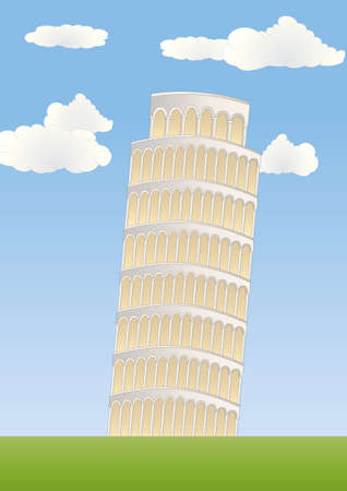 the leaning tower of pisa: leaning tower in Pisa Stock Photo