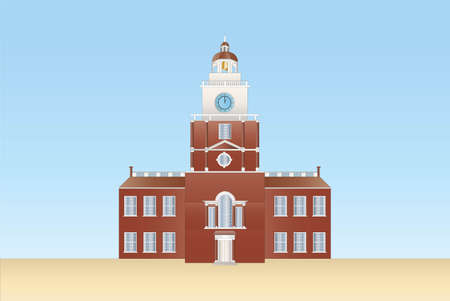 independence hall in Philadelphia Stock Vector - 8473823