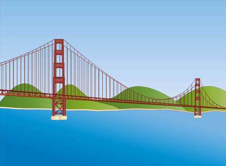 golden gate bridge in San Francisco Vektoros illusztráció