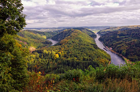 saar: saar river bending in autumn