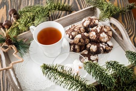 Weihnachtsplätzchen Schokoladenplätzchen.Schokoladenplätzchen Plätzchen Mit Rissen Köstliche