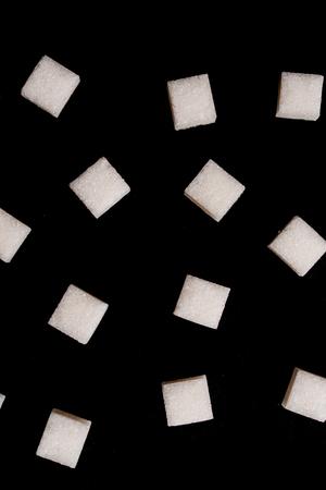 white salt on black background Stock Photo