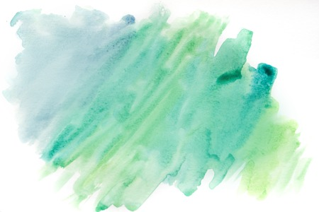 Background watercolor, blue and green. Abstract watercolor background texture Stock Photo
