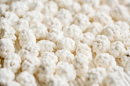 White mint sugar balls texture background.