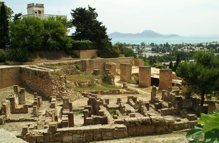 Remains of Carthage, Tunisia