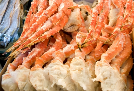 animal leg: seafood - boiled claw of crab Stock Photo
